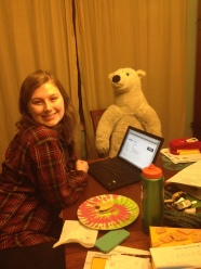 Cassidy & Poley help me write, too